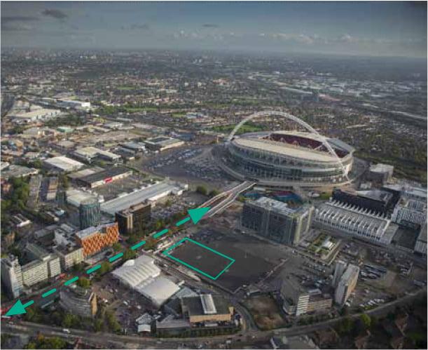 Wembley-Theatre route