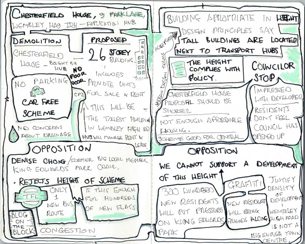 planning committee sketchnotes