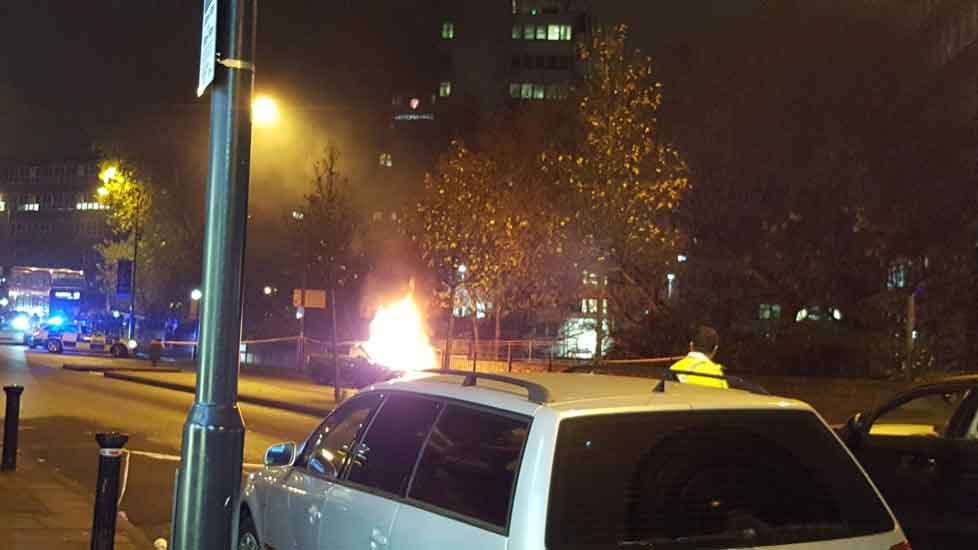 Car explodes outside Wembley Park tube