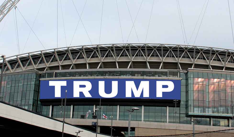 Trump Rally at Wembley