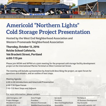 Americold / Portland IMT Cold Storage Public Meeting – Oct. 13 @ 6PM