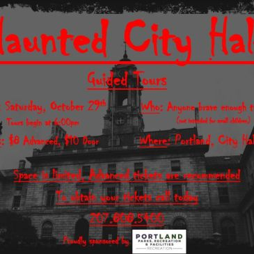Haunted City Hall – Mark Your Calendar & Volunteers Needed