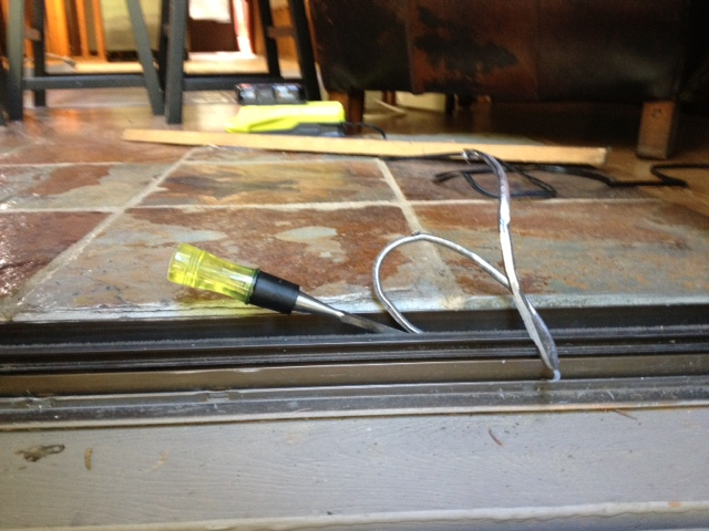sliding door roller and track replacement