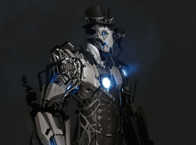 This Steampunk Iron Man is Cool.