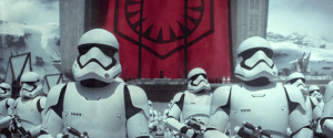 The troops of the First Order, led by Kylo Ren, son of Han and Leia, Sith Lord.