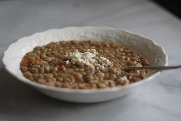 lentils-topped-with-feta