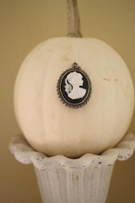Halloween Decorations Cameo Pumpkins