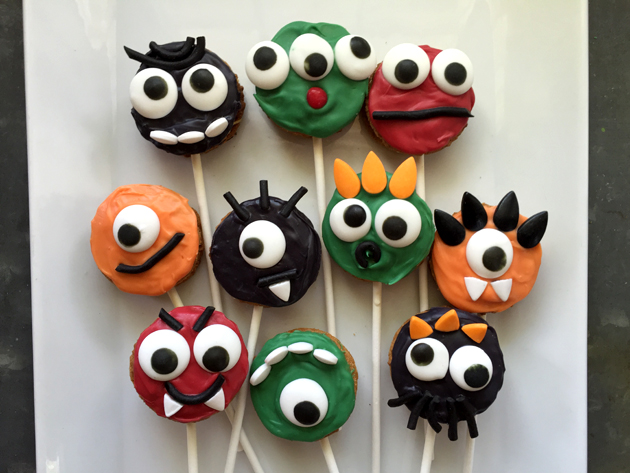 Halloween Treats Monster Cookie Pops