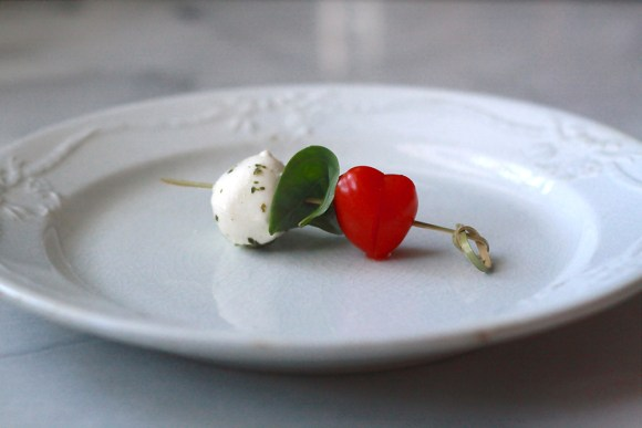 Caprese Salad Skewers Salad With Heart Tomatoes