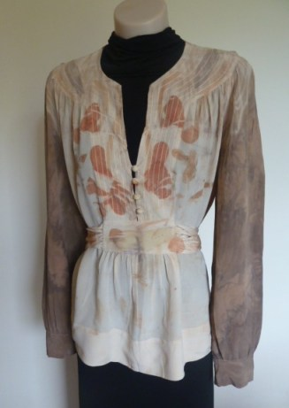 front of blouse
