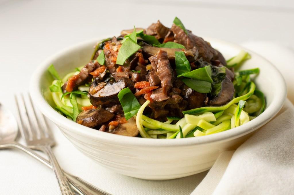 Slow Cooker Korean Beef Zoodles