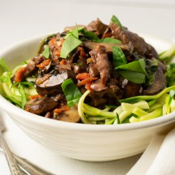 Slow Cooker Korean Beef Zoodles