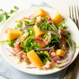Cantaloupe and Prosciutto Salad