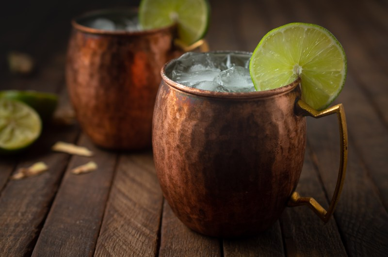 No-alcohol Moscow Mules