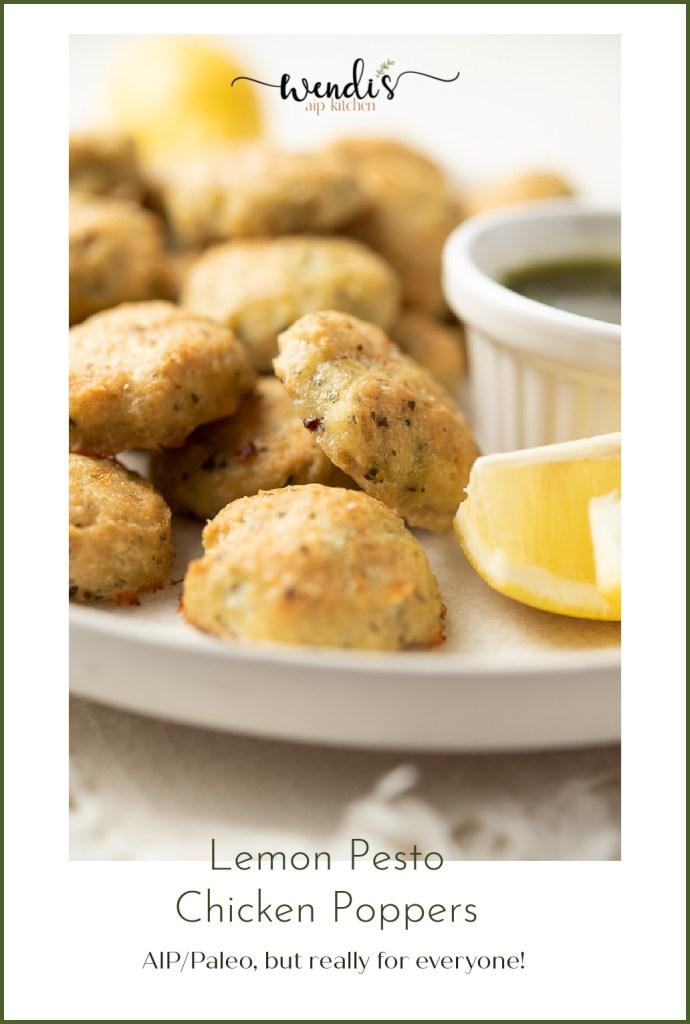 Lemon Pesto Chicken Poppers Pinterest Pin