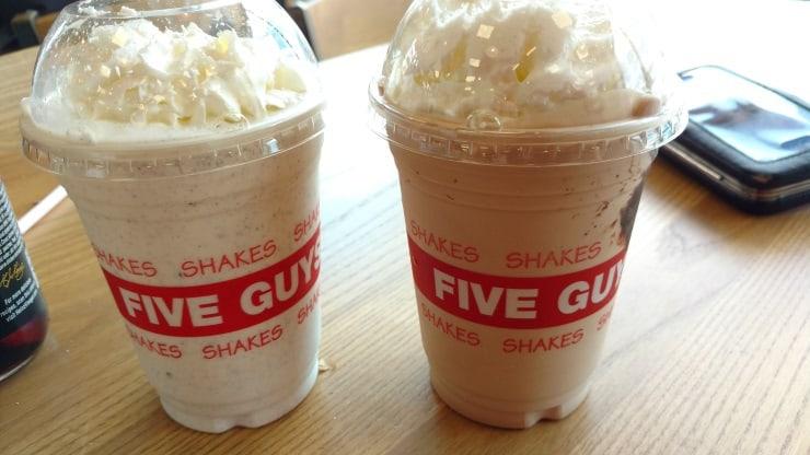 Five Guys Shakes