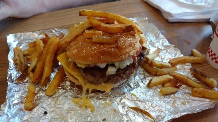 Shaun's burger