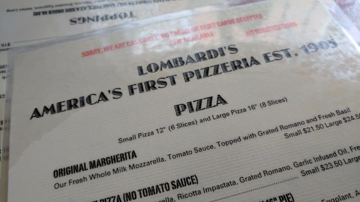 Lombardi's: America's First Pizzeria is a Great Place to get a Pie