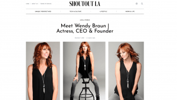 Feature story in Shoutout LA