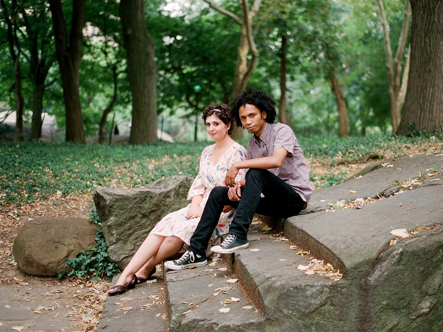 BMWW engagement photos in central park