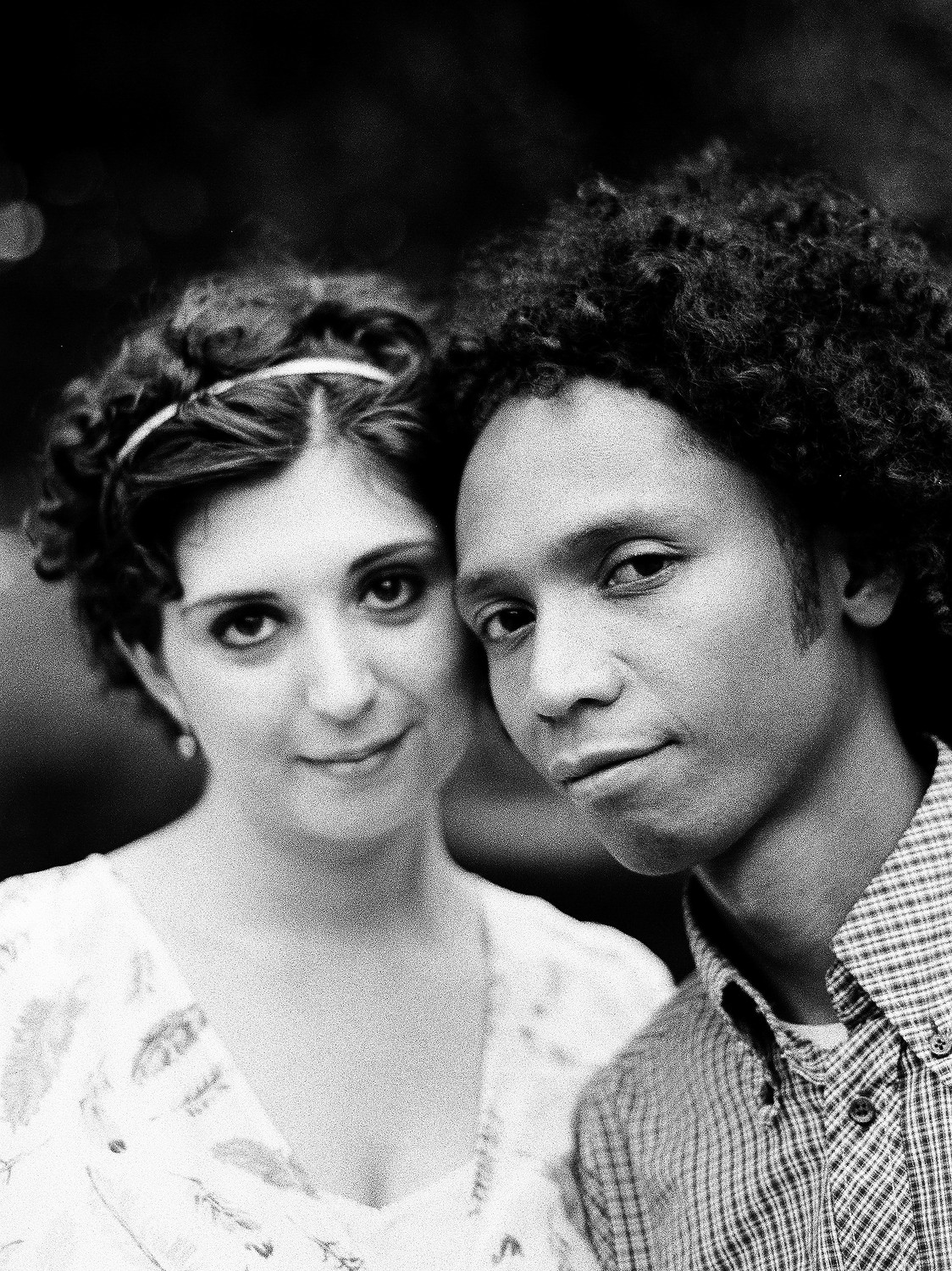 BMWW black and white photo of couple