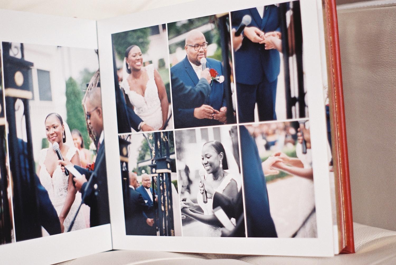 top wedding photo album by Leather Craftsmen ceremony spread