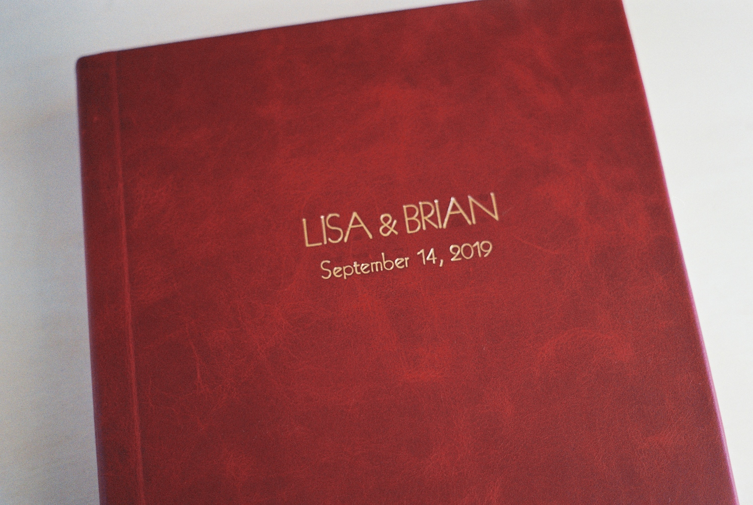 top wedding photo album by Leather Craftsmen leather cover