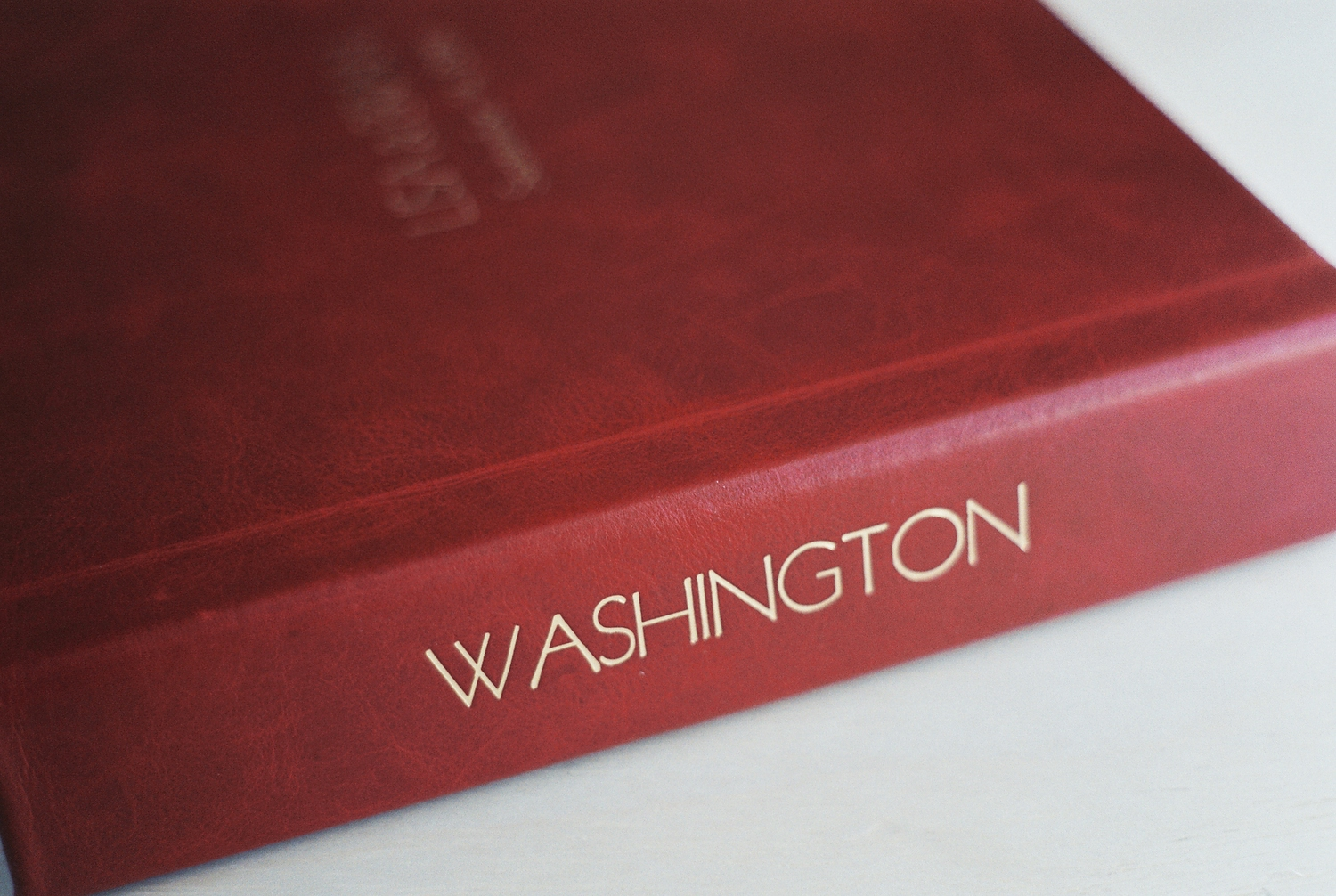 top wedding photo album by Leather Craftsmen cover