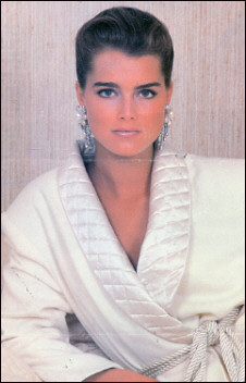 Classy Brooke in white with our pearl and crystal-drop earrings