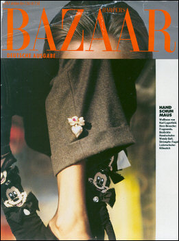 Wendy's Mickey Mouse gloves in Harper's Bazaar.