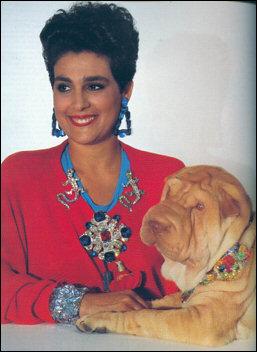 Wendy and her beloved Sharpei Zircon, circa 1988. Photo by Horst.