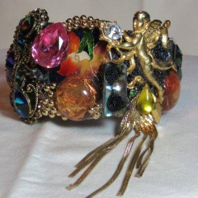Golden Angel Dangle Wristy by fashion jewelry designer Wendy Gell