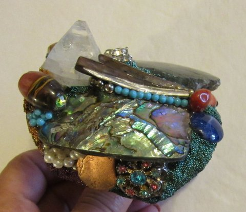 Labradorite wristy cuff bracelet by Wendy Gell. Available at www.wendygell.com