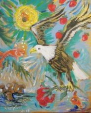 Peace Offering, original oil painting, Gelastic Art by Wendy Gell