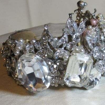 All Swarovski Bridal Bracelet Cuff by Wendy Gell