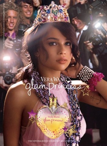 Wendy Gell GoFundMe.com campaign to rasie funds for an editor for her autobiography - Multicolor Jeweled Tiara, as shown in Vera Wang perfume advertisment