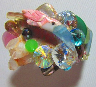 Toucan Bird in Jeweled Nest Wristy
