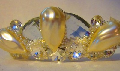 Pearl Crystal Bridal Tiara by Wendy Gell