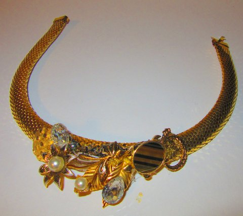 Golden Tiger Eye Turtle Necklace by jewelry designer Wendy Gell