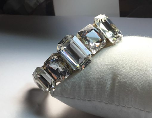 All Swarovski Crystal Wristy cuff bracelet by Wendy Gell - front view