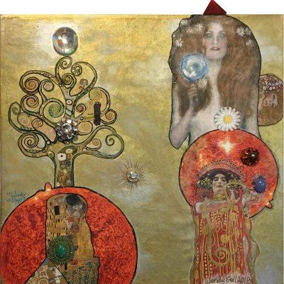 Klimt's Golden Girls, mandala from wendy Gel's Mandalas with the Masters series, 2018