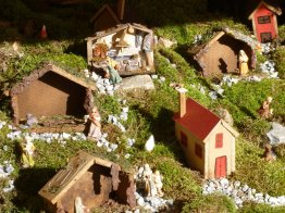 Nativity - had a house representing each area of the village