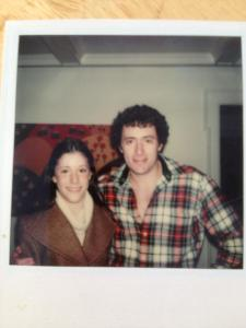me and my Dad during my high school days, him with his Jewfro, me with my pencil thin eyebrows and cowl-neck sweater