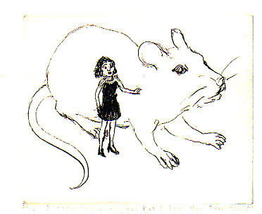 woman and rat