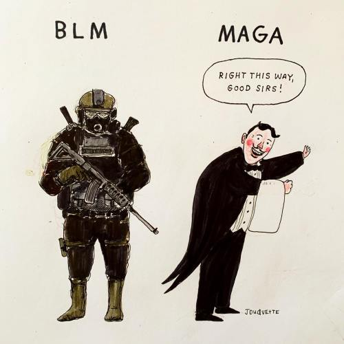 The Daily Don BLM MAGA illustration by Jesse Duquette