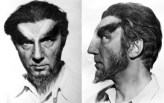 "Bela Lugosi in test make-up for his Sayer of the Law character in ""Island of Lost Souls"""