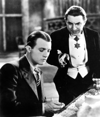 "Renfield (Dwight Frye) and Count Dracula (Bela Lugosi) in ""Dracula"" (1931)"