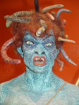 Close-up of Harryhausen's original Medusa model