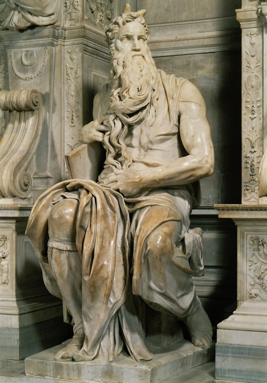 Moses statue from the tomb of Pope Julius II, 1513-16, Rome, S. Pietro in Vincoli