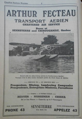 Chartered Air Service Ad